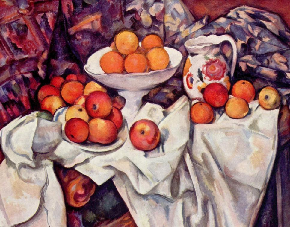 Paul Cézanne: Martwa natura z jabłkami i pomarańczami