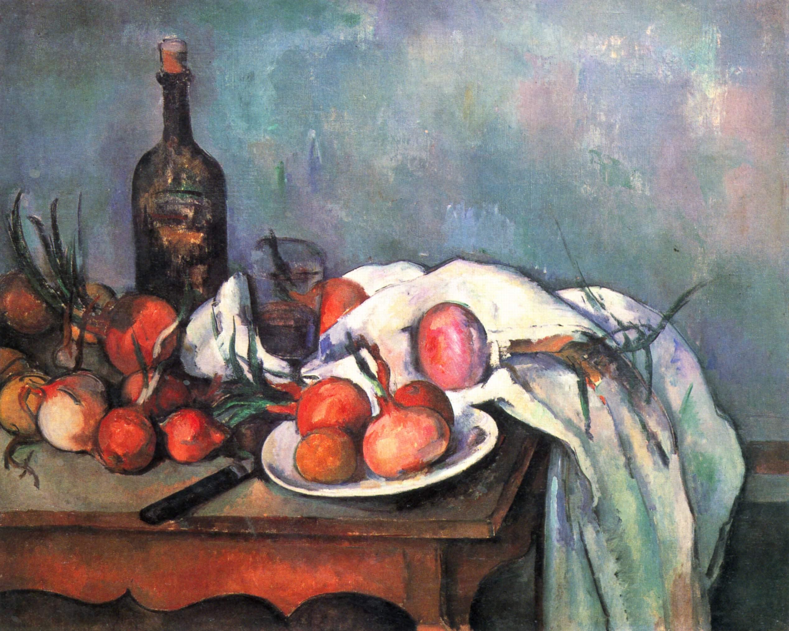 Paul Cézanne: Martwa natura z cebulami. 1896-1898.