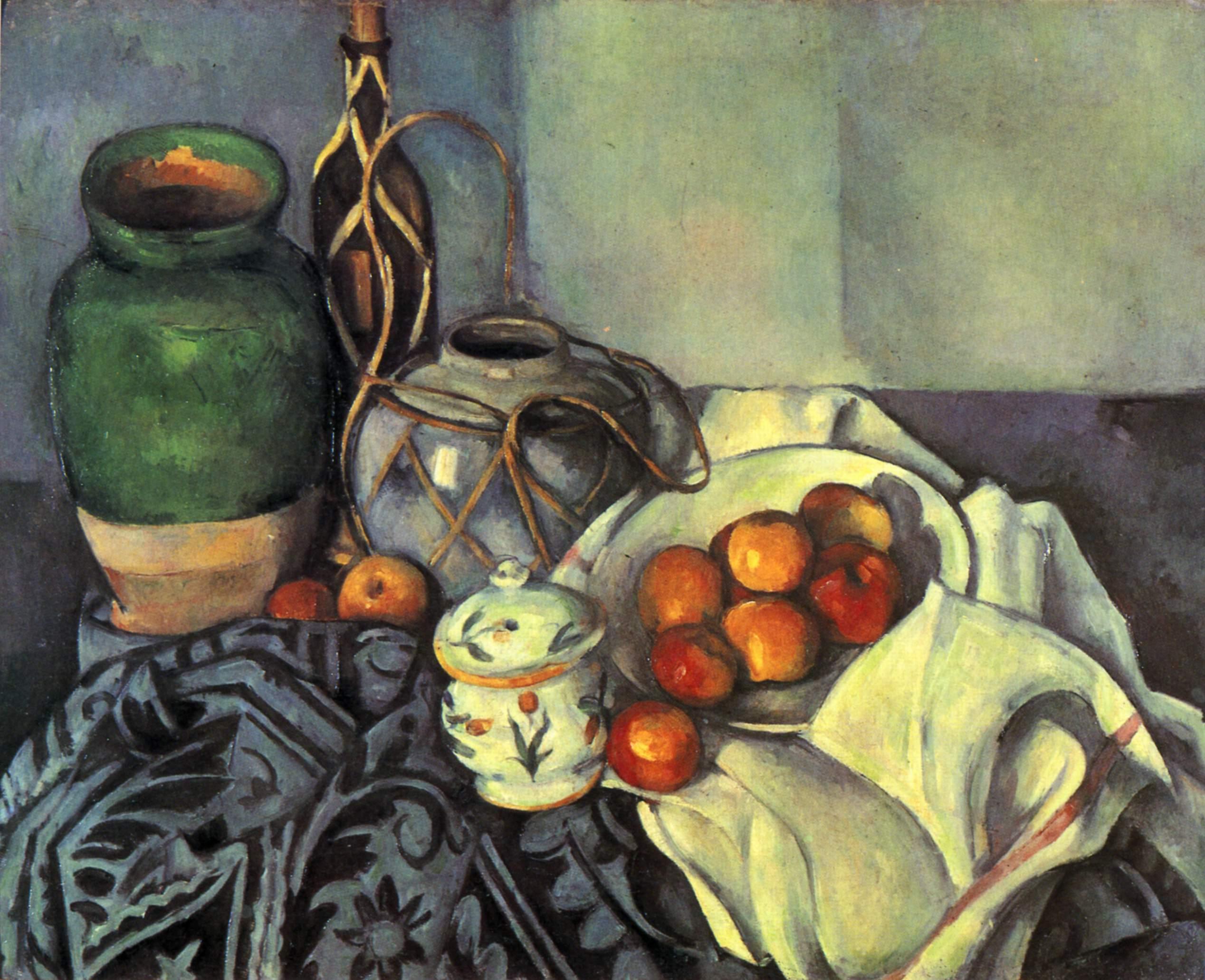 Paul Cézanne: Martwa natura z jabłkami. 1893-1894.