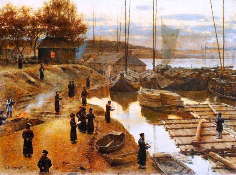 Aleksander Gierymski: Święto trąbek. 1884