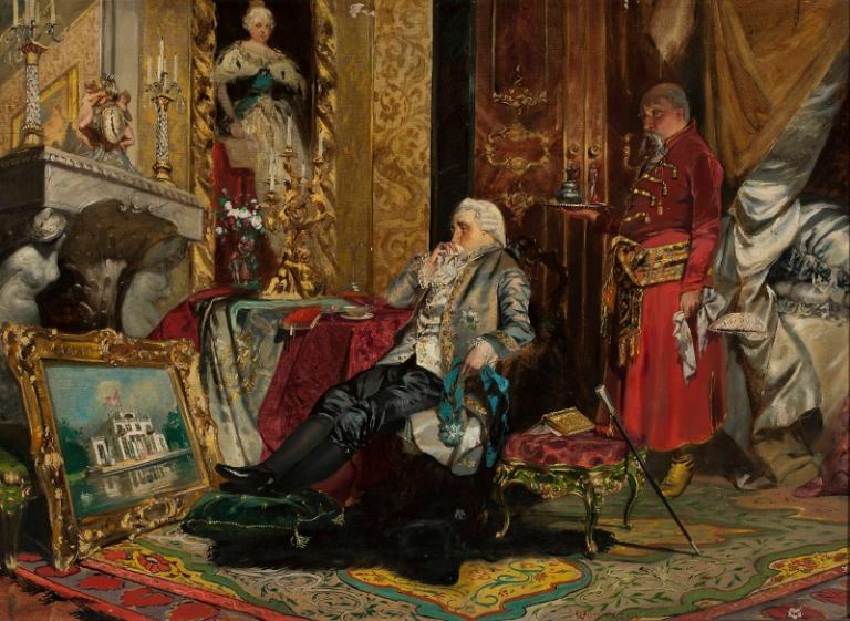 Jan Czesław Moniuszko: Król Stanisław August Poniatowski w Petersburgu. Ok 1880-1910