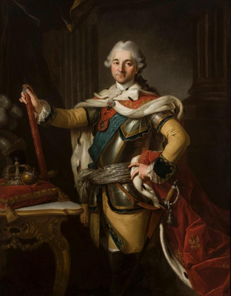 Per Krafft: Portret Stanisława Augusta Poniatowskiego, króla Polski. Ok 1767