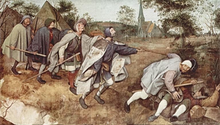Pieter Bruegel Starszy: Przypowieść o ślepcach. 1568
