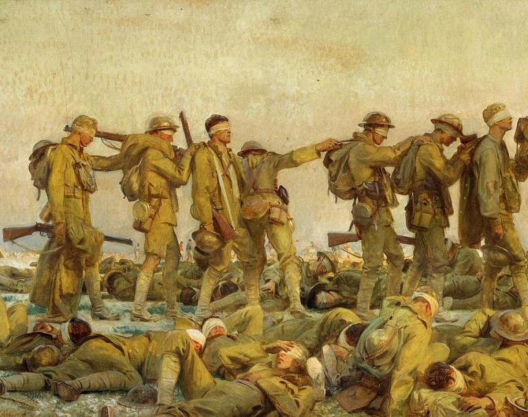 Sargent,_John_Singer_(RA)_-_Gassed. 1919. Olej na płótnie. 231 × 611 cm. Imperial War Museum, Londyn. Detal