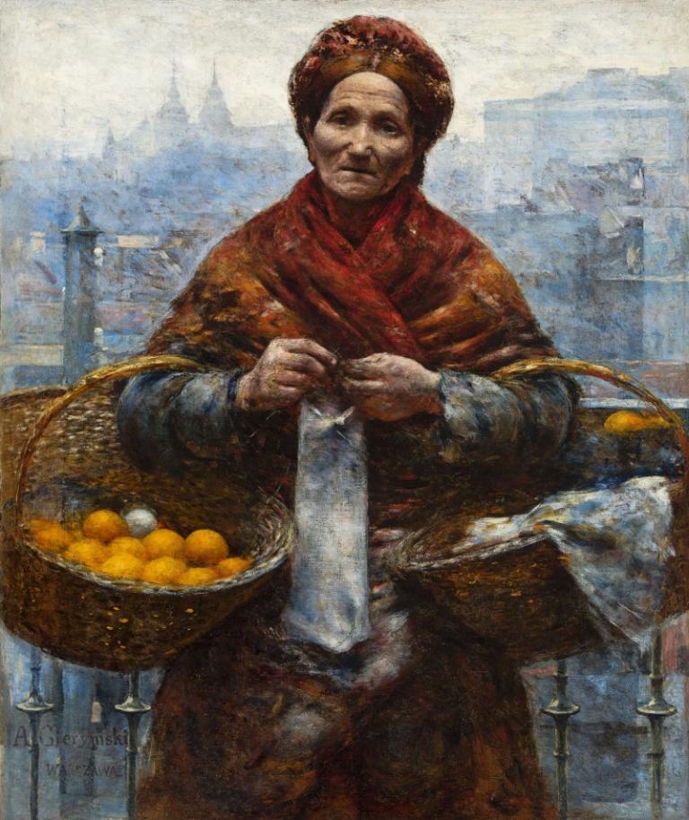 Aleksander Gierymski: Żydówka z pomarańczami. 1922
